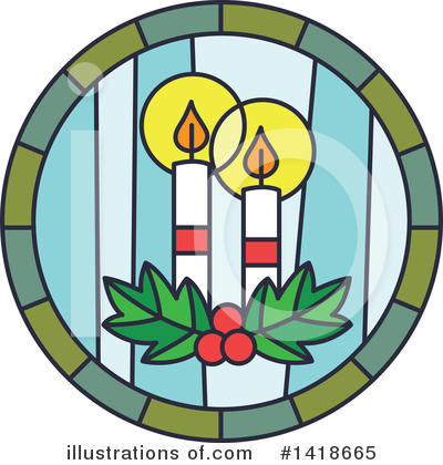 Stained Glass Clipart #1418665 by BNP Design Studio