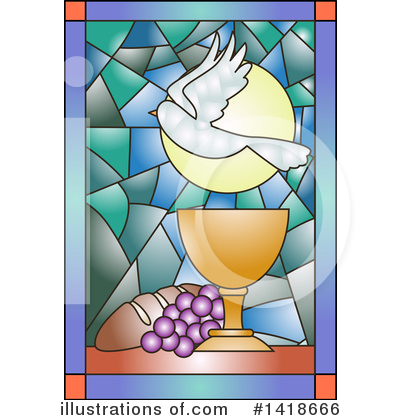 Stained Glass Clipart #1418666 by BNP Design Studio