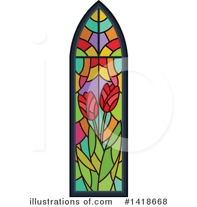 Stained Glass Clipart #1418668 by BNP Design Studio