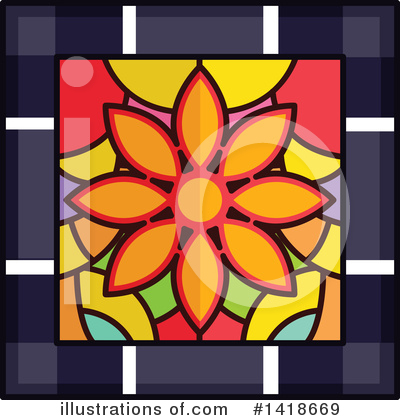 Royalty-Free (RF) Stained Glass Clipart Illustration by BNP Design Studio - Stock Sample #1418669