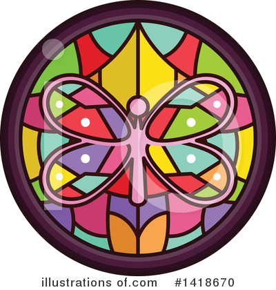 Stained Glass Clipart #1418670 by BNP Design Studio