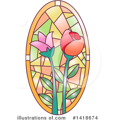 Stained Glass Clipart #1418674 by BNP Design Studio