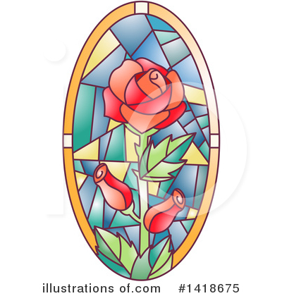 Stained Glass Clipart #1418675 by BNP Design Studio