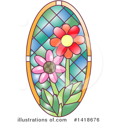 Stained Glass Clipart #1418676 by BNP Design Studio