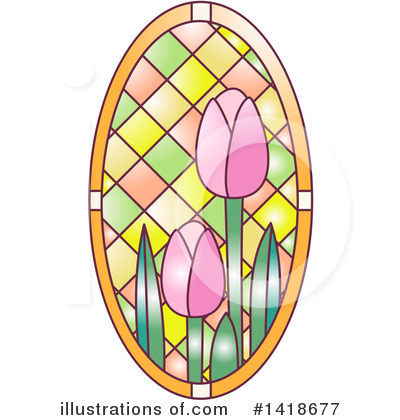 Stained Glass Clipart #1418677 by BNP Design Studio
