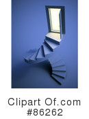 Royalty-Free (RF) Stairs Clipart Illustration #86262