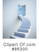 Royalty-Free (RF) Stairs Clipart Illustration #86300