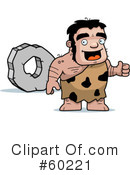 Royalty-Free (RF) Stalky Caveman Character Clipart Illustration #60221