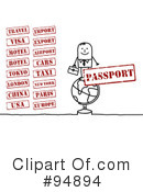 Royalty-Free (RF) Stamps Clipart Illustration #94894