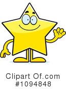 Royalty-Free (RF) Star Clipart Illustration #1094848