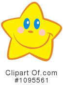 Royalty-Free (RF) Star Clipart Illustration #1095561