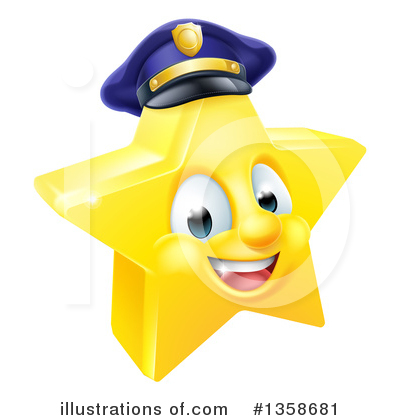 Police Officer Clipart #1358681 by AtStockIllustration