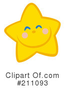 Royalty-Free (RF) Star Clipart Illustration #211093