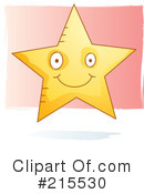 Royalty-Free (RF) Star Clipart Illustration #215530