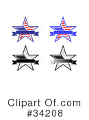 Royalty-Free (RF) Star Clipart Illustration #34208