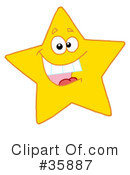 Royalty-Free (RF) Star Clipart Illustration #35887