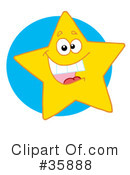 Royalty-Free (RF) Star Clipart Illustration #35888