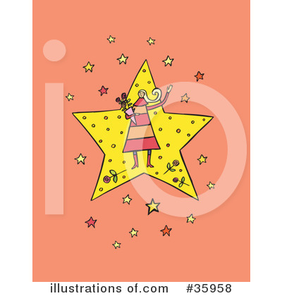 Royalty-Free (RF) Star Clipart Illustration by Lisa Arts - Stock Sample #35958