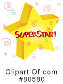 Royalty-Free (RF) Star Clipart Illustration #80580