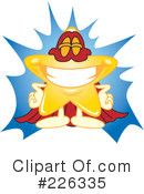 Royalty-Free (RF) Star Mascot Clipart Illustration #226335