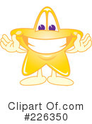 Royalty-Free (RF) Star Mascot Clipart Illustration #226350