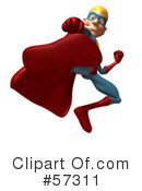 Star Superhero Character Clipart #57311 by Julos