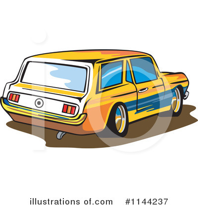 Muscle Car Clipart #1144237 by patrimonio