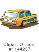 Station Wagon Clipart #1144237 by patrimonio