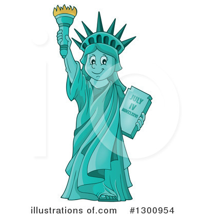 Statue Of Liberty Clipart #1300954 by visekart