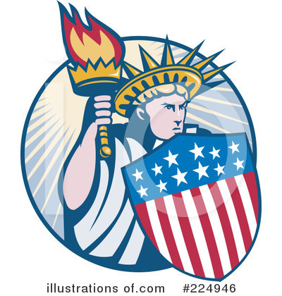 Statue Of Liberty Clipart #224946 by patrimonio
