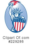 Statue Of Liberty Clipart #229286 by patrimonio