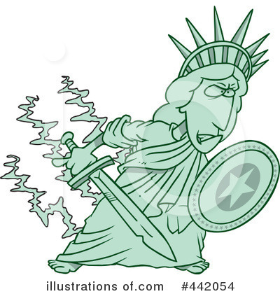 Statue Of Liberty Clipart #442054 by toonaday