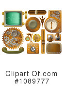 Royalty-Free (RF) Steampunk Clipart Illustration #1089777