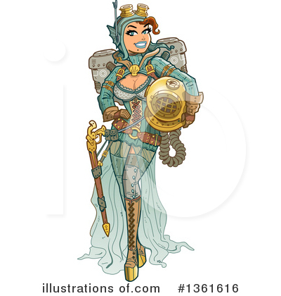 Royalty-Free (RF) Steampunk Clipart Illustration by Clip Art Mascots - Stock Sample #1361616