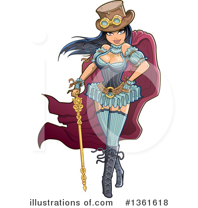 Royalty-Free (RF) Steampunk Clipart Illustration by Clip Art Mascots - Stock Sample #1361618