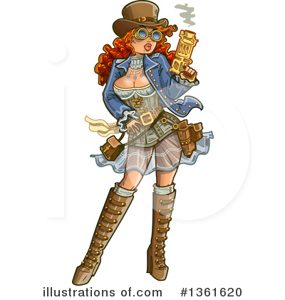 Royalty-Free (RF) Steampunk Clipart Illustration by Clip Art Mascots - Stock Sample #1361620