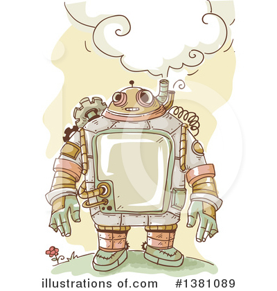 Robot Clipart #1381089 by BNP Design Studio