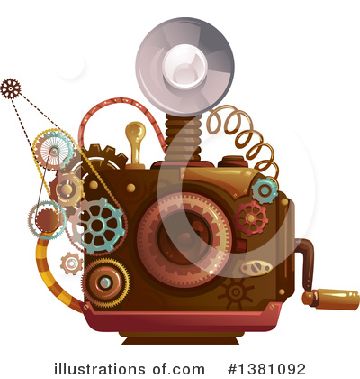 Royalty-Free (RF) Steampunk Clipart Illustration by BNP Design Studio - Stock Sample #1381092