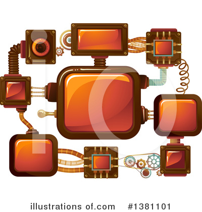 Royalty-Free (RF) Steampunk Clipart Illustration by BNP Design Studio - Stock Sample #1381101