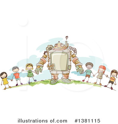 Robot Clipart #1381115 by BNP Design Studio