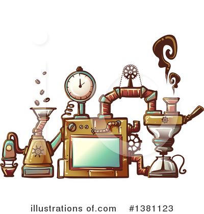 Royalty-Free (RF) Steampunk Clipart Illustration by BNP Design Studio - Stock Sample #1381123