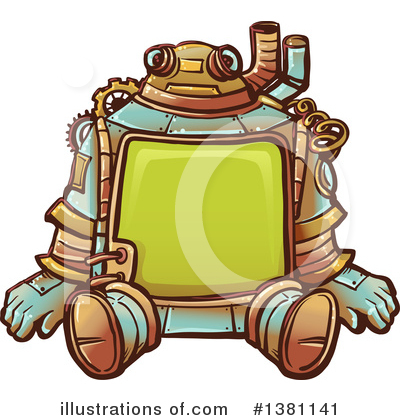 Robot Clipart #1381141 by BNP Design Studio