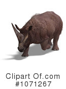 Steppe Rhino Clipart #1071267 by Ralf61