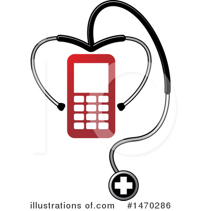 Cell Phone Clipart #1470286 by Lal Perera