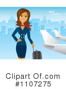 Royalty-Free (RF) stewardess Clipart Illustration #1107275