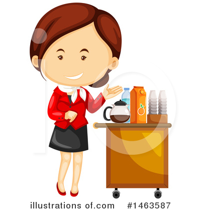 Stewardess Clipart #1463587 by Graphics RF