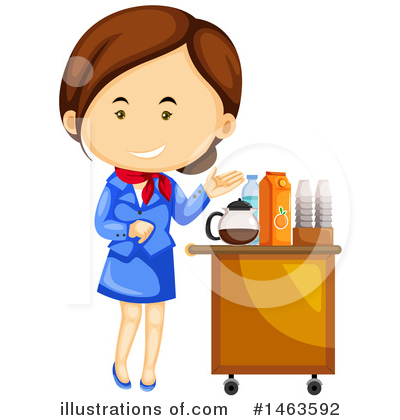 Stewardess Clipart #1463592 by Graphics RF