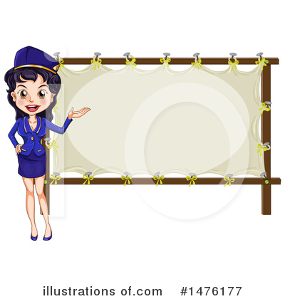 Stewardess Clipart #1476177 by Graphics RF
