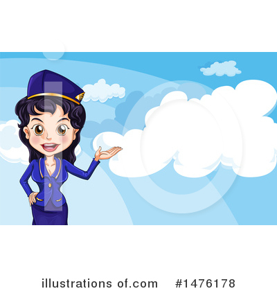 Stewardess Clipart #1476178 by Graphics RF