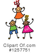 Stick Children Clipart #1257751